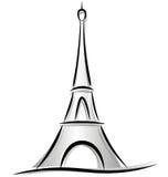 Tekening van de toren van Eiffel vector illustratie