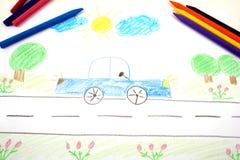 Tekening van een auto Royalty-vrije Stock Foto