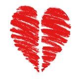 Tekening van een hart stock foto