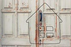 Tekening van een huis royalty-vrije illustratie