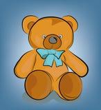 Tekening van een teddybeer van kinderen Vector illustratie stock foto's