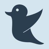 Tekening van een vogelholding voor sociale media markering Stock Foto's