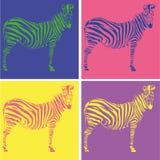 Tekening van een zebra Stock Foto's