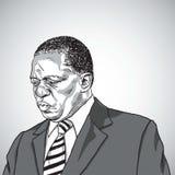 Tekening van Emmerson Mnangagwa de President van Zimbabwe Vector de Illustratietekening van de portretkarikatuur Harare, 4 Decemb Stock Fotografie