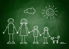 Tekening van familie royalty-vrije illustratie