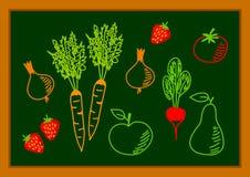 Tekening van gezond voedsel vector illustratie