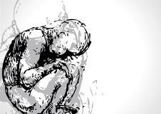 Tekening van kind I Stock Illustratie