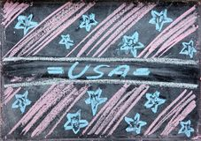 Tekening van onafhankelijkheid dag de V.S. Royalty-vrije Stock Foto