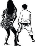 Tekening van paren het dansen Royalty-vrije Stock Fotografie