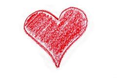 Tekening van rood hart stock illustratie