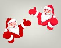 Tekening van Santa Claus van rode kleur Royalty-vrije Stock Foto's