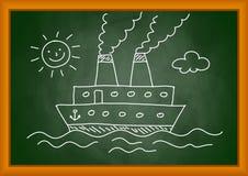 Tekening van schip vector illustratie