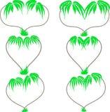 Tekening van twee palmen in de vorm van hart Royalty-vrije Stock Foto's