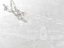 Tekening van vliegtuig Royalty-vrije Stock Foto's