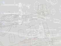 Tekening van vliegtuig Stock Foto