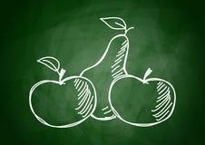 Tekening van vruchten Stock Foto