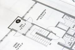 Tekeningen 3 van het plan stock fotografie