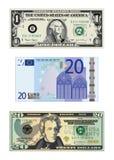 Tekeningen van geld Royalty-vrije Stock Afbeeldingen