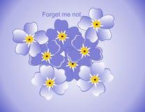Tekeningen van vergeet-mij-nietjes?. Stock Foto's