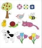 Tekeningen voor kinderen Royalty-vrije Stock Afbeeldingen