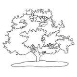 Tekeningsboom royalty-vrije illustratie