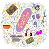 Tekeningsstencil voor tienersgoedemorgen vector illustratie
