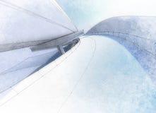 Tekeningsviaduct royalty-vrije stock foto