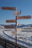 Tekenpost in Kangerlussuaq Stock Foto's