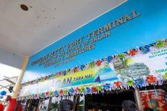 Tekenraad van Caticlan-de terminal van de pierhaven Royalty-vrije Stock Afbeeldingen