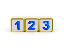 1 2 3 tekens Royalty-vrije Stock Foto's