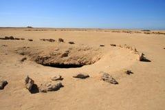 Tekens in de woestijn Royalty-vrije Stock Foto's