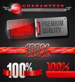 Tekens en emblemen van de etiketten van uitstekende kwaliteit Stock Afbeeldingen