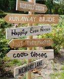 Tekens op een huwelijk Stock Fotografie