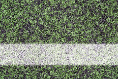 Tekens op sportengras Stock Foto
