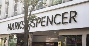 Tekens & Spencer, M&S, Doncaster, Engeland, het Verenigd Koninkrijk, winkel e Royalty-vrije Stock Foto