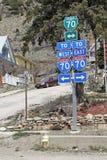 70 Tekens tusen staten in Colorado Stock Foto