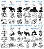 Tekens van de dierenriem Stock Foto's