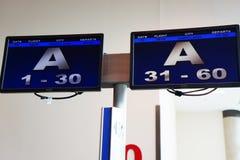 Tekens van de zuidwesten de passengar lading de luchthaven in van Dallas, Texas stock fotografie