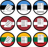 Tekens van stemming in Baltische staten Stock Afbeeldingen
