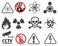 Tekens van waarschuwingen en aandacht royalty-vrije illustratie