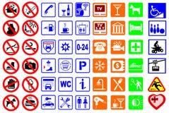 Tekens voor de hoteldiensten Royalty-vrije Stock Foto's