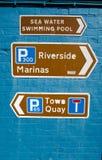 Tekens voor Toeristen, Lymington, Nieuw Bos Royalty-vrije Stock Foto's