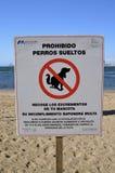 Tekenwaarschuwing van hond het pooping Stock Afbeelding