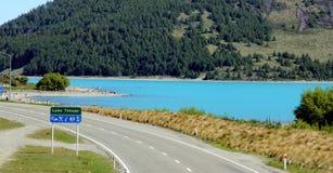 湖Tekepo NZ 库存照片