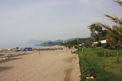 Tekirova beach royalty free stock photos