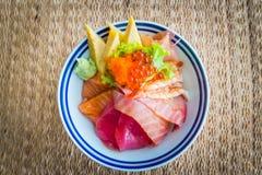 Tekka donburi/日本食物 免版税库存图片