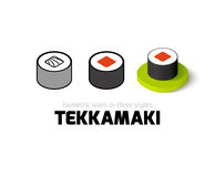 Tekkamaki icon in different style Royalty Free Stock Photo