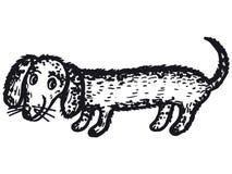 Tekkelhond stock illustratie