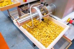 Teknik för teckning för pastafabriksautomation som bearbetar produktionslinjen Royaltyfria Foton