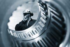 teknik gears titaniumen Royaltyfri Foto